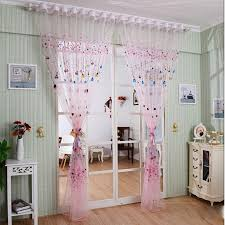 balloon curtains pink drapes transparent sheer voile embellish