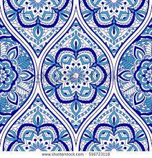 vector seamless border eastern style ornament stock vector