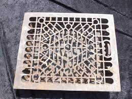 Floor Grates by Antique Cast Iron Floor Register Heat Grate 14x16 Sm F Co 12 1 2