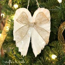 i made these wings ornaments from coffee filters easy