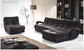 Living Room Furniture Black Black Leather Sofa Gives Elegant Impression House Design Ideas