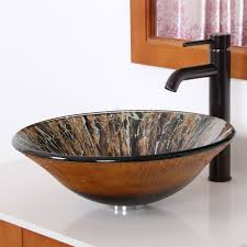1310 elite modern design tempered glass bathroom vessel sink