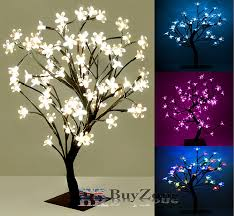 led lights pre lit cherry blossom bonsai tree