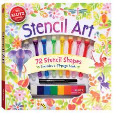stencil art kit for kids easy u0026 fun klutz craft kits at