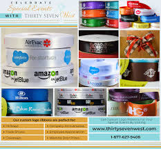 custom ribbon with logo logo ribbon thirtysevenwest creative ideas about personalized