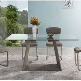 dr dt1 concrete top dining found it at allmodern isidore extendable dining table home