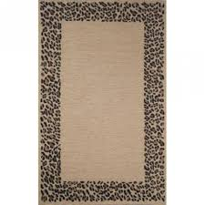 Trans Ocean Rugs Shop Spello Leopard Border Neutral Square Outdoor Rug 8 Ft