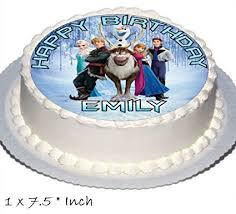 frozen birthday cake party toppers includes elsa