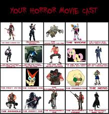 Horror Movie Memes - horror movie cast meme by meikotheshinyturtwig on deviantart