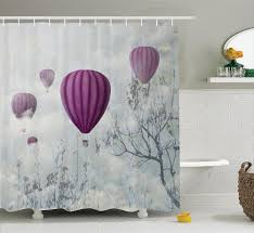 Eiffel Tower Window Curtains by Shower Curtain Funny Colorful Air Balloons And Paris Eiffel