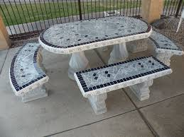 tile patio table set creative of concrete patio furniture concrete patio table oval with