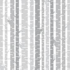 birch trees gray on white background fabric googoodoll spoonflower