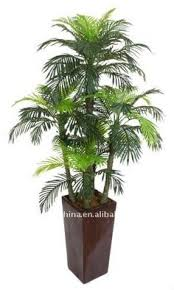 8 decorative potted artificial brown and green palm tree