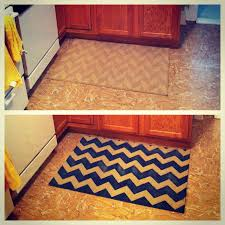 Chevron Kitchen Rug Diy Chevron Kitchen Rug Bs In Bmore