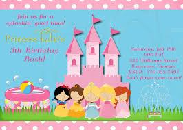 princess pool party invitation digital file 12 00 via etsy