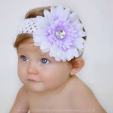 baby flower headbands baby lilac white gerbara flower headband baby special