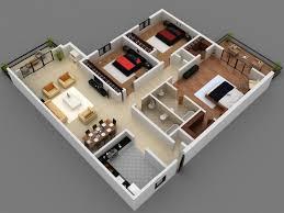 Apartment Nice 3 Bedroom Apartment Design Plan House Floor Plans