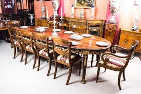 Antique Flame Mahogany Ormolu Dining Table And Ten Chairs At Stdibs - Mahogany kitchen table