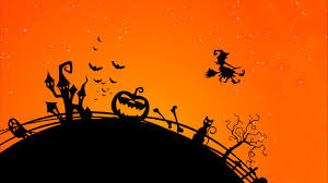 halloween background for mobile wallpaper scary house witch bats pumpkin 4k celebrations
