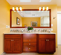 Trim For Mirrors In Bathroom Framing A Mirror With Wood Trim Bathroom Contemporary With Wall