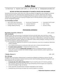 Samples Of A Resume For Job by Machinery And Device Sales Manager Resume