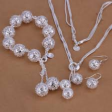 sterling silver necklace set images Sterling silver jewellery set new for summer 2015 handmade jpg