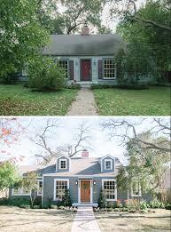 landscape with a cottage garage trees bushes street lights save to