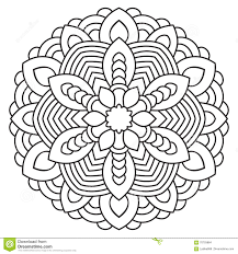 symmetrical circular pattern mandala stock vector image 70703864