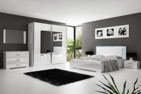 chambre blanc laqué meuble chambre a coucher contemporain