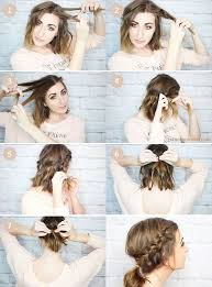 15 cute easy hairstyle tutorials for medium length hair gurl com