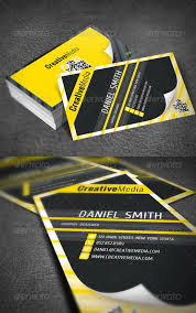 Business Cards Ideas For Graphic Designers 51 Creative Yellow Business Cards