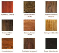 different types of finishes on wood types of wood