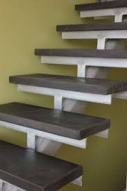concrete stair treads trapezoid house shelterbelt architecture