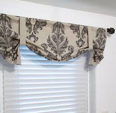 valances for living room tie up valance top window treatment black oatmeal lined curtain