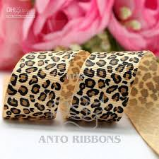 leopard ribbon 2018 7 8inch leopard ribbon 100 polyester grosgrain crafts ribbons