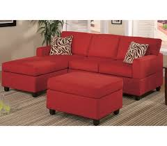 mini sectional w reversible chaise red microfiber reversible