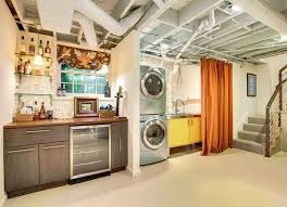 Laundry Room In Garage Decorating Ideas by Unfinished Basement Ideas 9 Affordable Tips Bob Vila