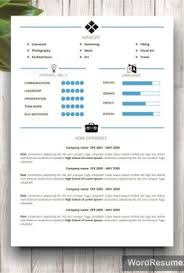 Microsoft Word Resume Sample Microsoft Word Resume Template U0026 Cover Letter U2013 U201cjohn F Martinez U201d