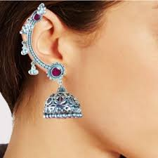 ear cuffs india ear cuff silver tri ear cuffs online shopping india artbugs