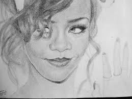 drawn people rihanna pencil and in color drawn people rihanna