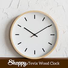 shoppy tevix wood clock shoppy