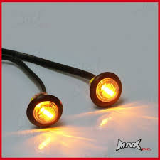 flush mount led lights 12v amber 12v round flush mount led mini marker lights ebay