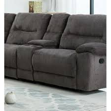 esofastore large sectional sofa set console cup holder chaise