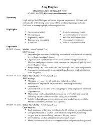 Refrigeration Technician Resume Shift Manager Resume Berathen Com