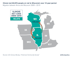 Wisconsin On Map by Illinois Lost 86 000 People On Net To Wisconsin Over The Past Decade
