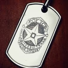 mens dog tags engraved custom engraved mens dog tag with department shield custom