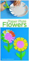 Art And Craft For Kids With Paper Plates Paper Plate Flower Craft For Kids Scissor Skills Flower Crafts
