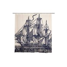 Sailboat Shower Curtains Paul Ship Shower Curtain
