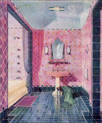 Yellow And Pink Bathroom 1929 Kohler Plumbing Fixtures Vintage Art Deco Bathroom