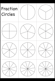 fraction circles worksheet printable worksheets pinterest